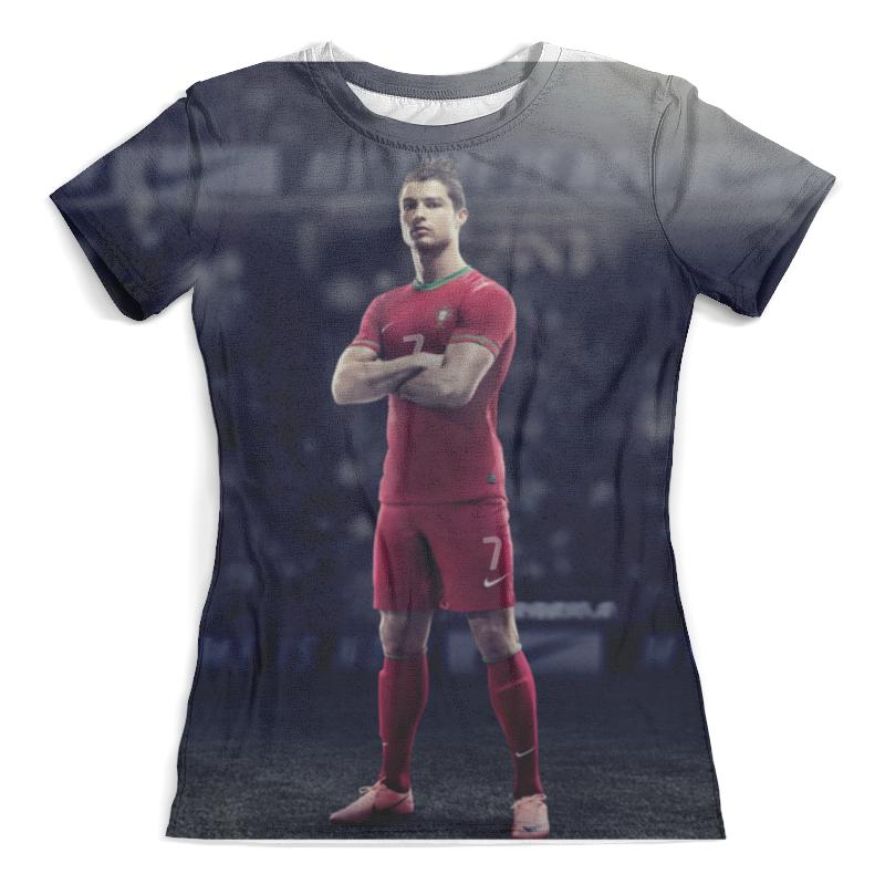 все цены на Футболка с полной запечаткой (женская) Printio Ronaldo онлайн