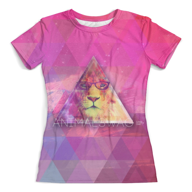 Футболка с полной запечаткой (женская) Printio animalswag ii collection: lion тетрадь на скрепке printio animalswag ii collection lion