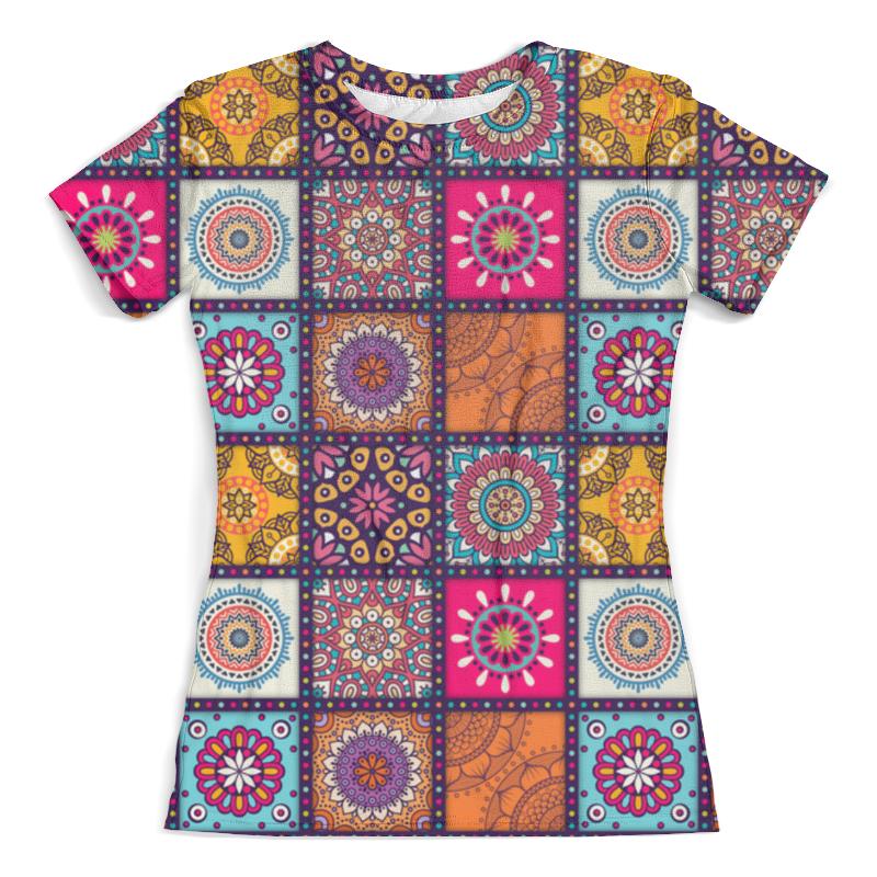 Футболка с полной запечаткой (женская) Printio Буддийская футболка с полной запечаткой мужская printio фрактальная эзотерика мандалы