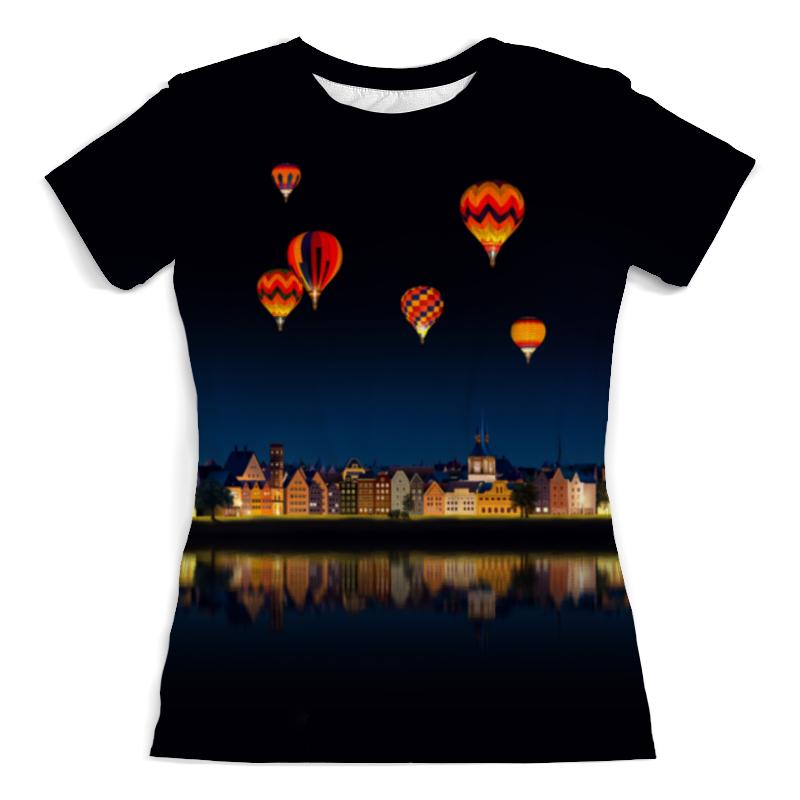 Футболка с полной запечаткой (женская) Printio Ночной городок футболка с полной запечаткой женская printio воздушные шарики