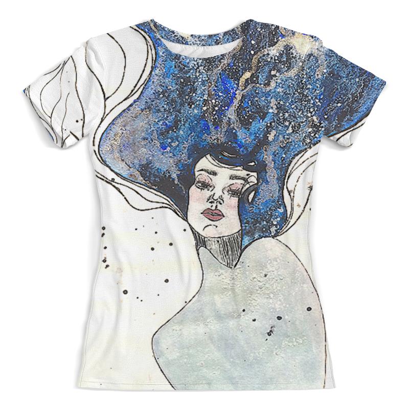 Футболка с полной запечаткой (женская) Printio Девушка-море от milanna футболка с полной запечаткой женская printio девушка море от milanna