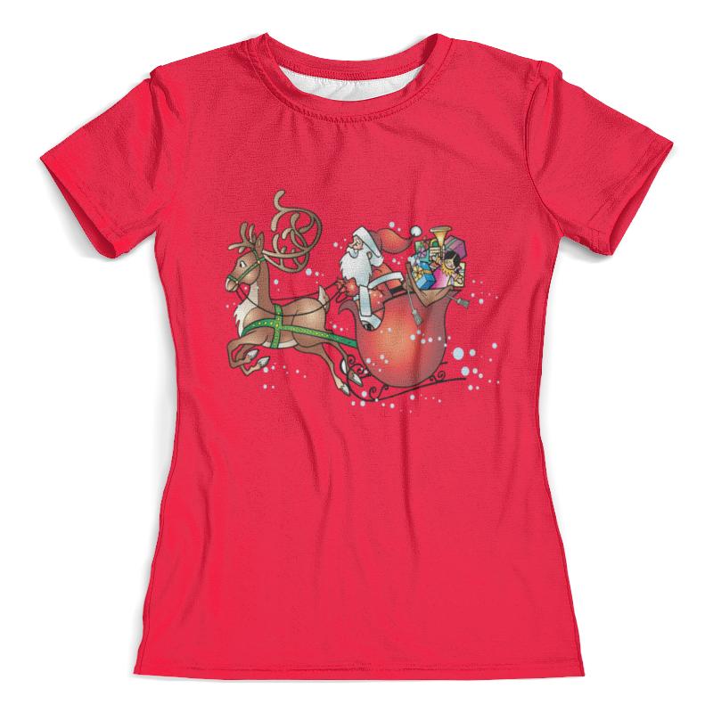 Футболка с полной запечаткой (женская) Printio Новогодние сани футболка с полной запечаткой женская printio новогодние игрушки
