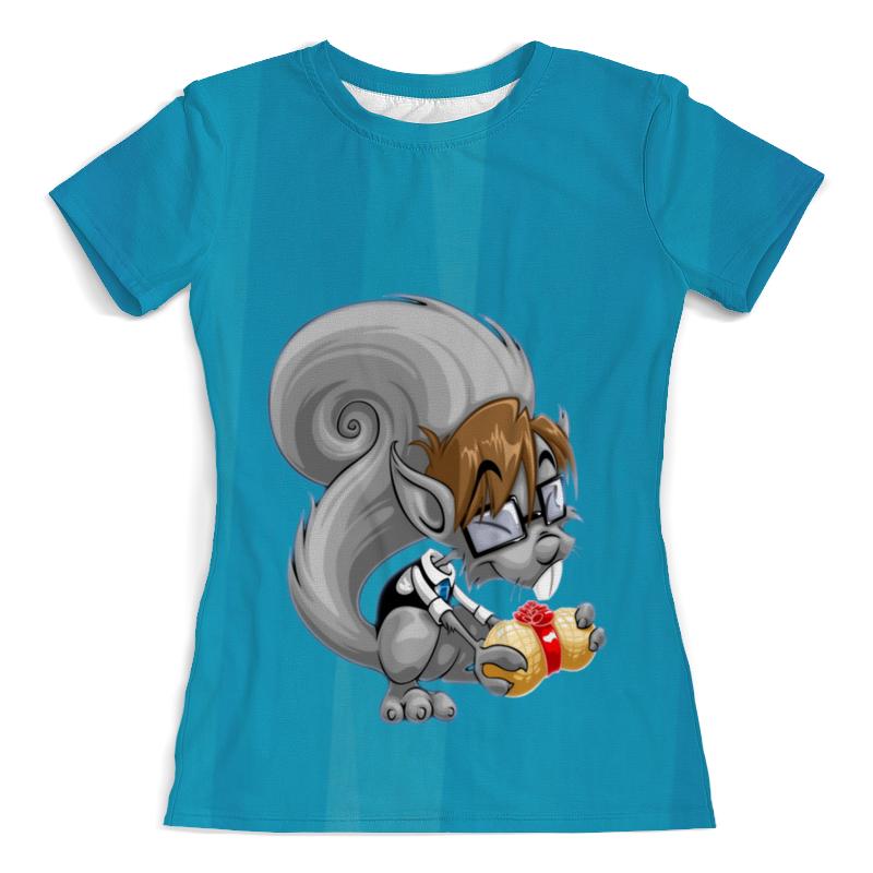 Футболка с полной запечаткой (женская) Printio Белка с орехом футболка с полной запечаткой женская printio воздушные шары