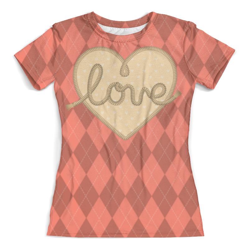Футболка с полной запечаткой (женская) Printio Ромбы и сердце футболка с полной запечаткой женская printio сердце