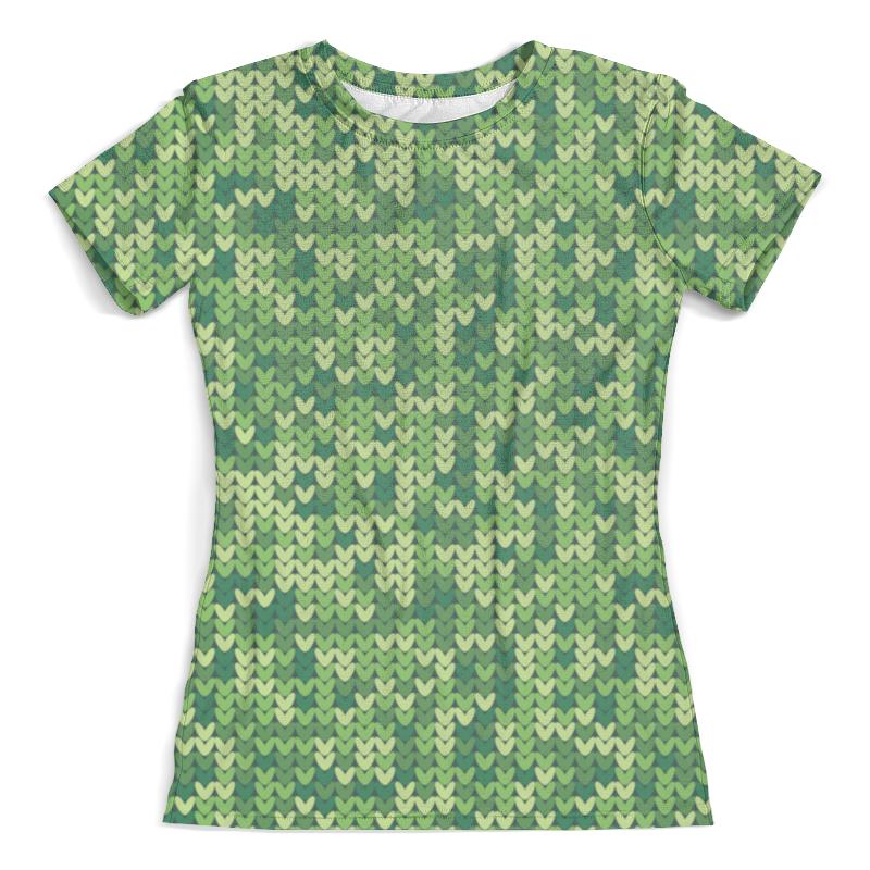 Футболка с полной запечаткой (женская) Printio Зеленый вязаный узор футболка с полной запечаткой женская printio желто зеленый узор