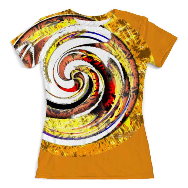 Футболка с полной запечаткой (женская) Printio Золотая спираль. абстракция