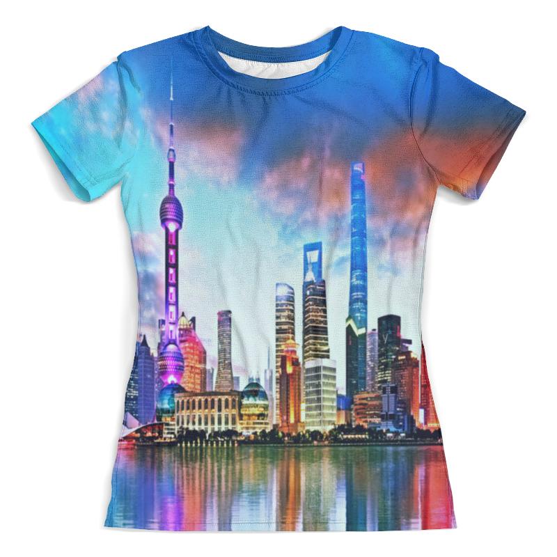 Футболка с полной запечаткой (женская) Printio Город в красках футболка с полной запечаткой женская printio дубай город