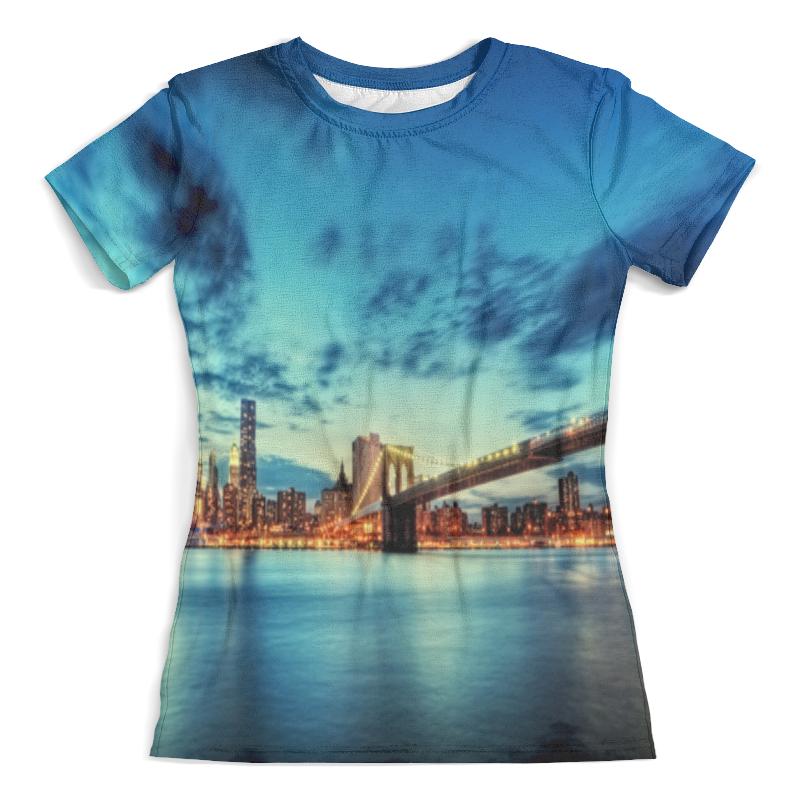 Футболка с полной запечаткой (женская) Printio Бруклинский мост