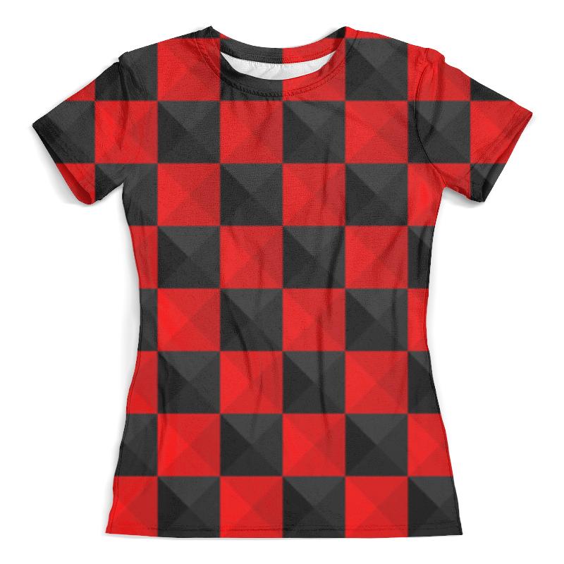 Футболка с полной запечаткой (женская) Printio Красная и чёрная клетка футболка с полной запечаткой женская printio чёрная вдова black widow