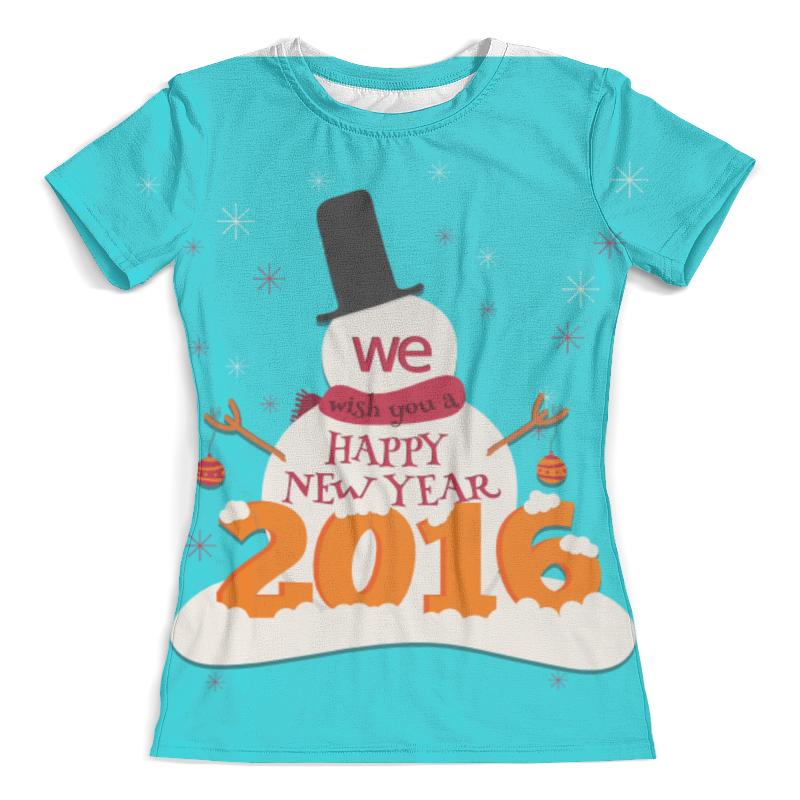 Футболка с полной запечаткой (женская) Printio Happy new year 2016! wenger w29 10br