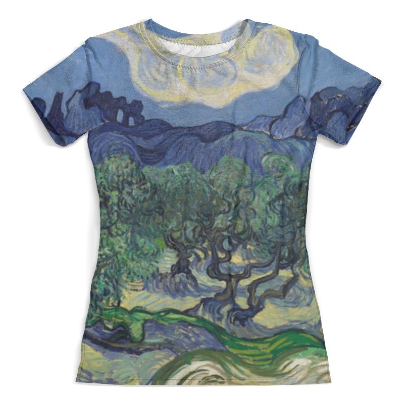 Футболка с полной запечаткой (женская) Printio Оливковые деревья (винсент ван гог) футболка с полной запечаткой женская printio винсент ван гог
