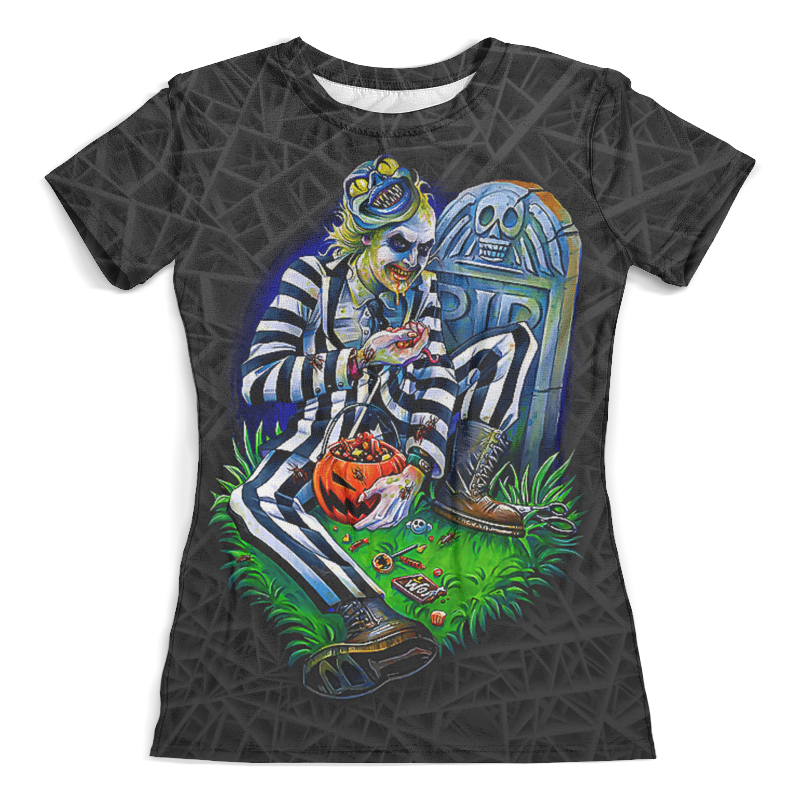 Футболка с полной запечаткой (женская) Printio Beetlejuice (halloween) футболка с полной запечаткой мужская printio the mask vs beetlejuice 1
