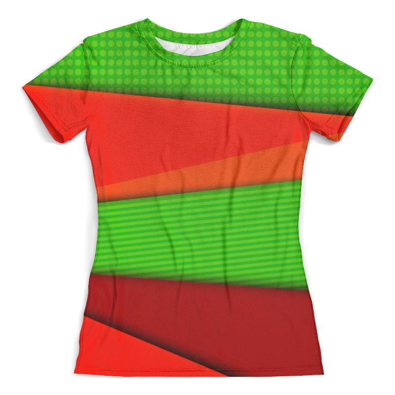 Футболка с полной запечаткой (женская) Printio Цветные полосы футболка с полной запечаткой женская printio шары цветные