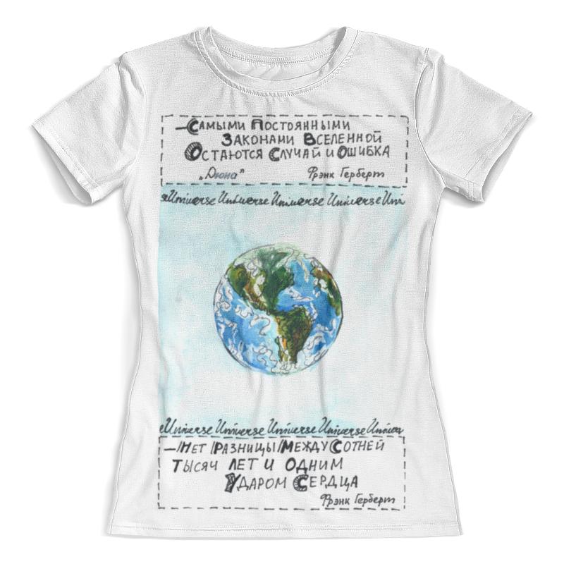 Футболка с полной запечаткой (женская) Printio Наша планета паруасьен э наша планета