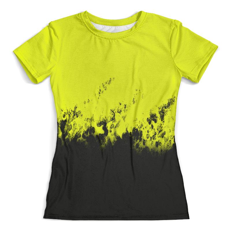 Футболка с полной запечаткой (женская) Printio Желто-черные краски футболка с полной запечаткой женская printio желто зеленый узор