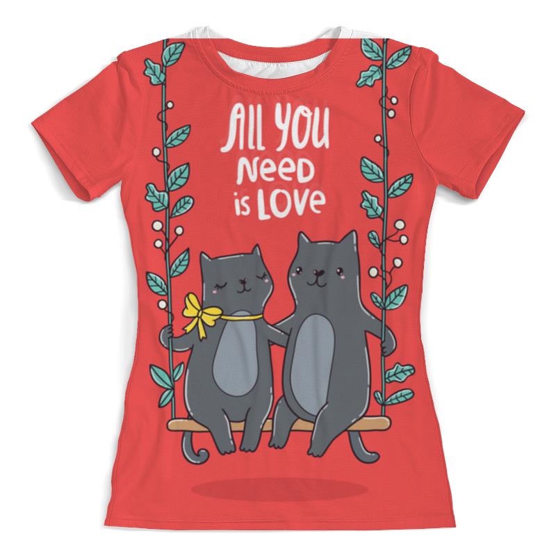 Printio All you need is love. кошки на качелях.