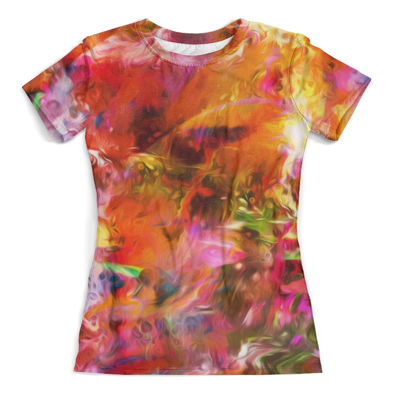 Футболка с полной запечаткой (женская) Printio Разноцветные краски футболка с полной запечаткой женская printio разноцветные воздушные шары
