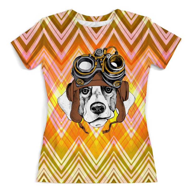 Футболка с полной запечаткой (женская) Printio Пес летчик футболка с полной запечаткой для девочек printio пес летчик