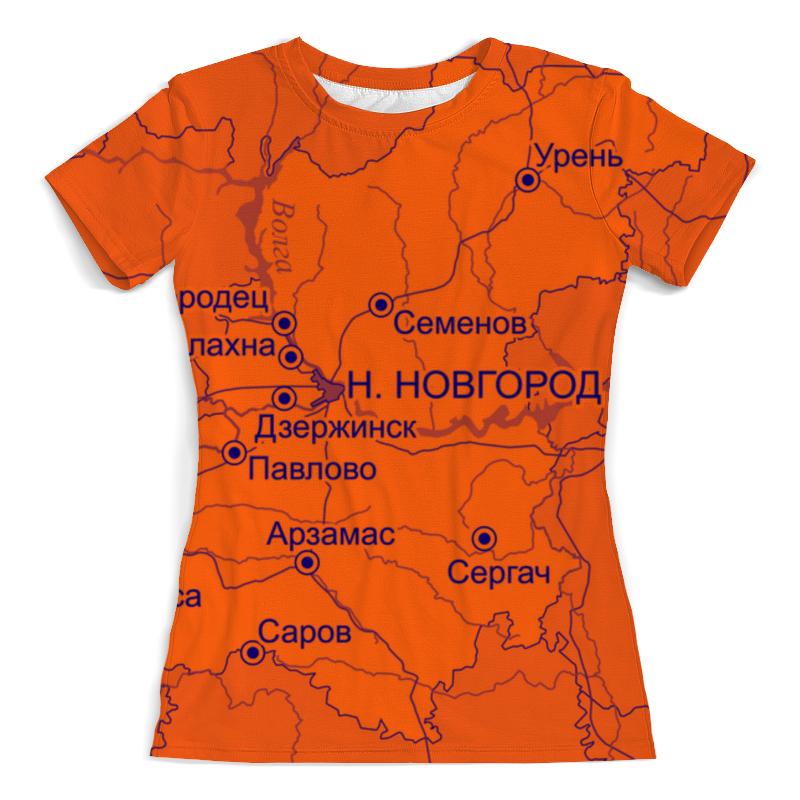 Футболка с полной запечаткой (женская) Printio Нижегородская область. нижний новгород