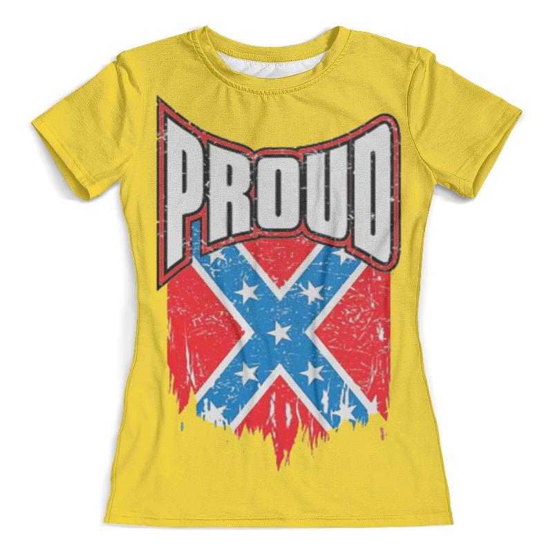 Футболка с полной запечаткой (женская) Printio Флаг конфедерации сша футболка с полной запечаткой женская printio american flag американский флаг