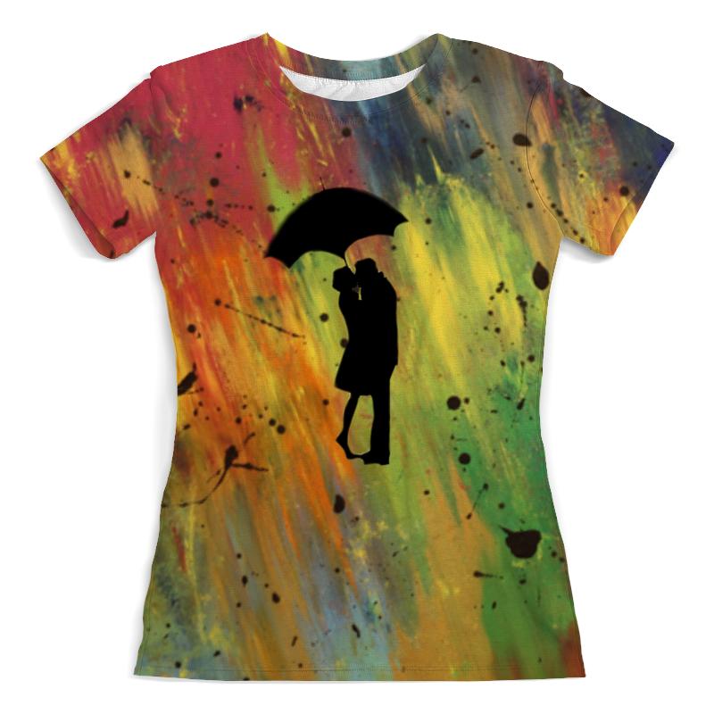 Футболка с полной запечаткой (женская) Printio Двое под дождём лонгслив printio поющий под дождём