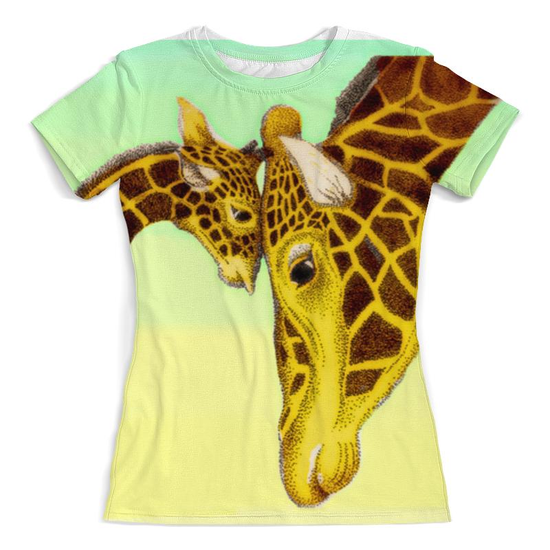 Футболка с полной запечаткой (женская) Printio Жирафы футболка с полной запечаткой женская printio жирафы 1