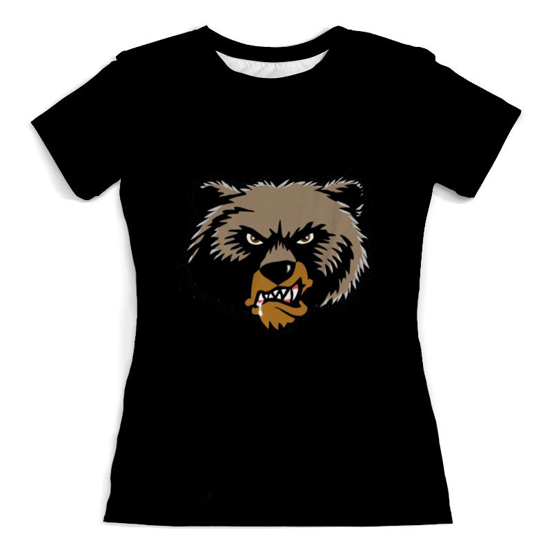 Футболка с полной запечаткой (женская) Printio Медведь недорго, оригинальная цена