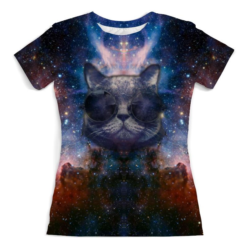 Футболка с полной запечаткой (женская) Printio Кот в космосе футболка с полной запечаткой женская printio кот граф