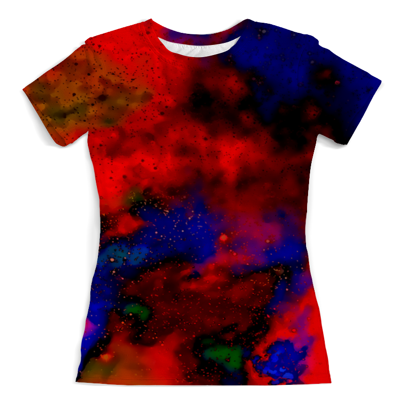 Футболка с полной запечаткой (женская) Printio Красно-синий узор футболка с полной запечаткой для девочек printio красно белый узор