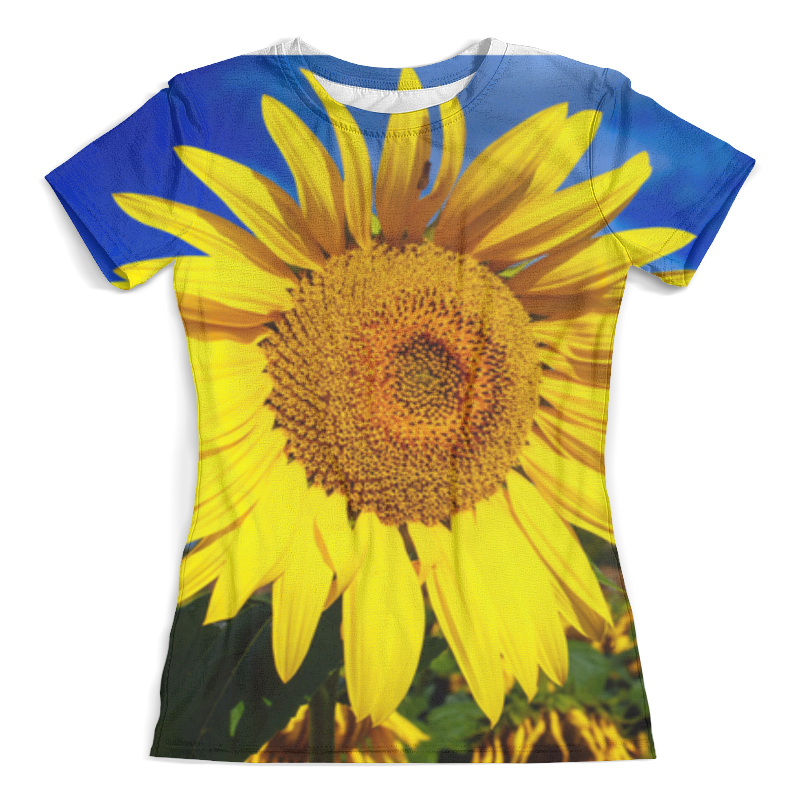 Футболка с полной запечаткой (женская) Printio Подсолнух!!! футболка с полной запечаткой женская printio подсолнух