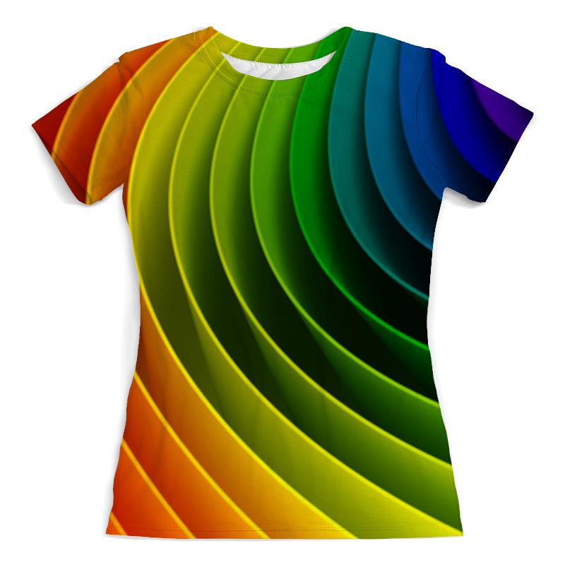 Футболка с полной запечаткой (женская) Printio Радуга. цвета футболка с полной запечаткой мужская printio радуга цвета жизни