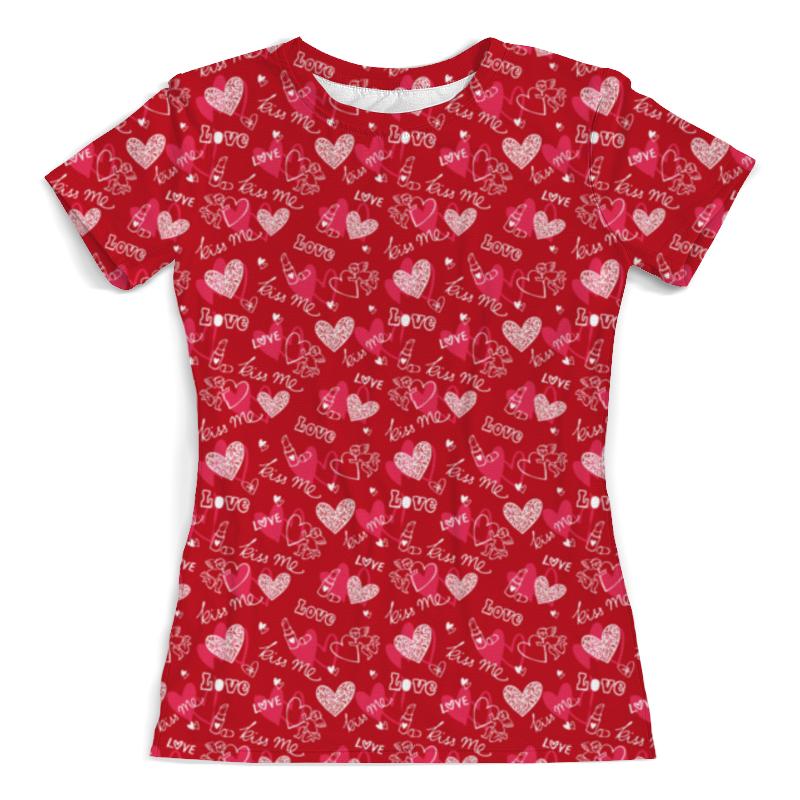 Футболка с полной запечаткой (женская) Printio Kiss me футболка с полной запечаткой для мальчиков printio kiss me