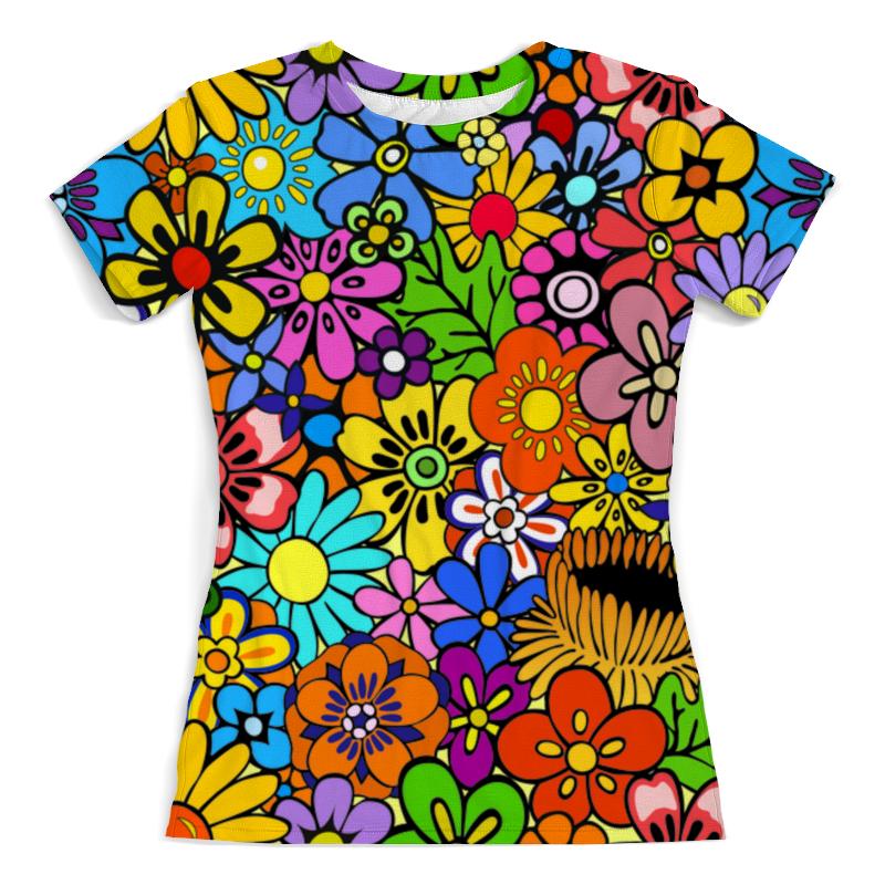 Printio Цветы футболка с полной запечаткой женская printio blade