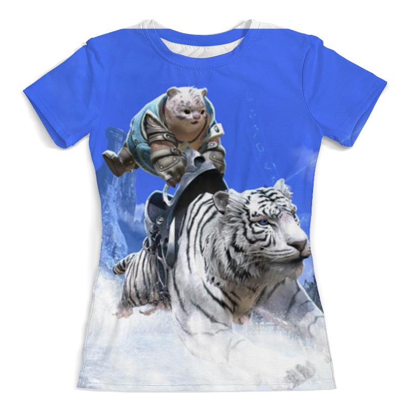 Футболка с полной запечаткой (женская) Printio Белый тигр футболка с полной запечаткой мужская printio тигр 3d