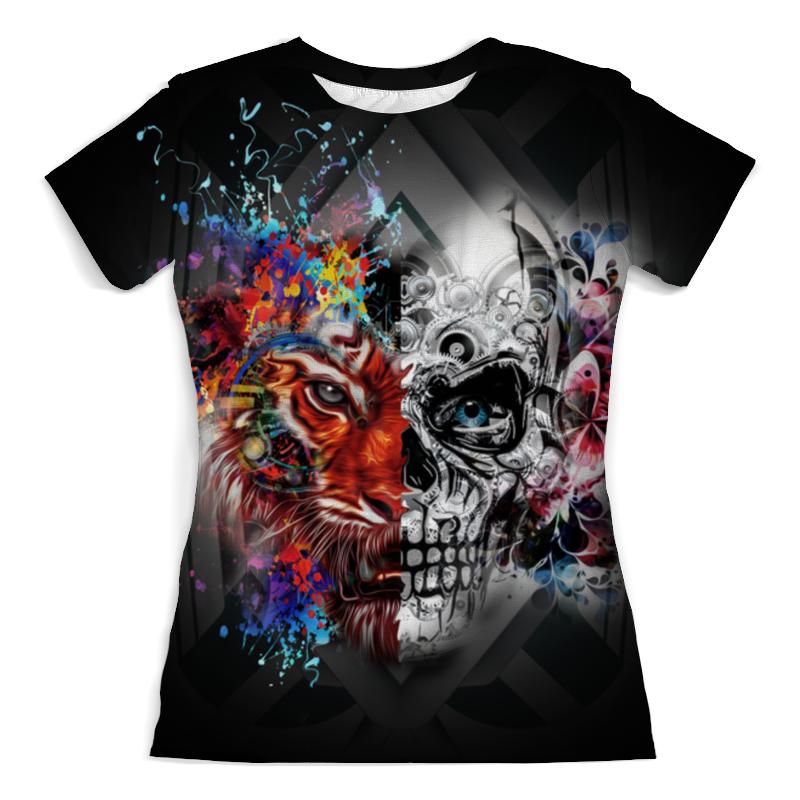 Printio Тигр и череп футболка с полной запечаткой мужская printio тигр 3d