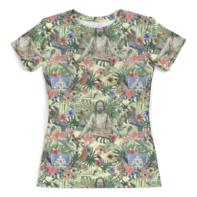 Футболка с полной запечаткой (женская) Printio Yog &taj mahal design (day) футболка с полной запечаткой мужская printio yog