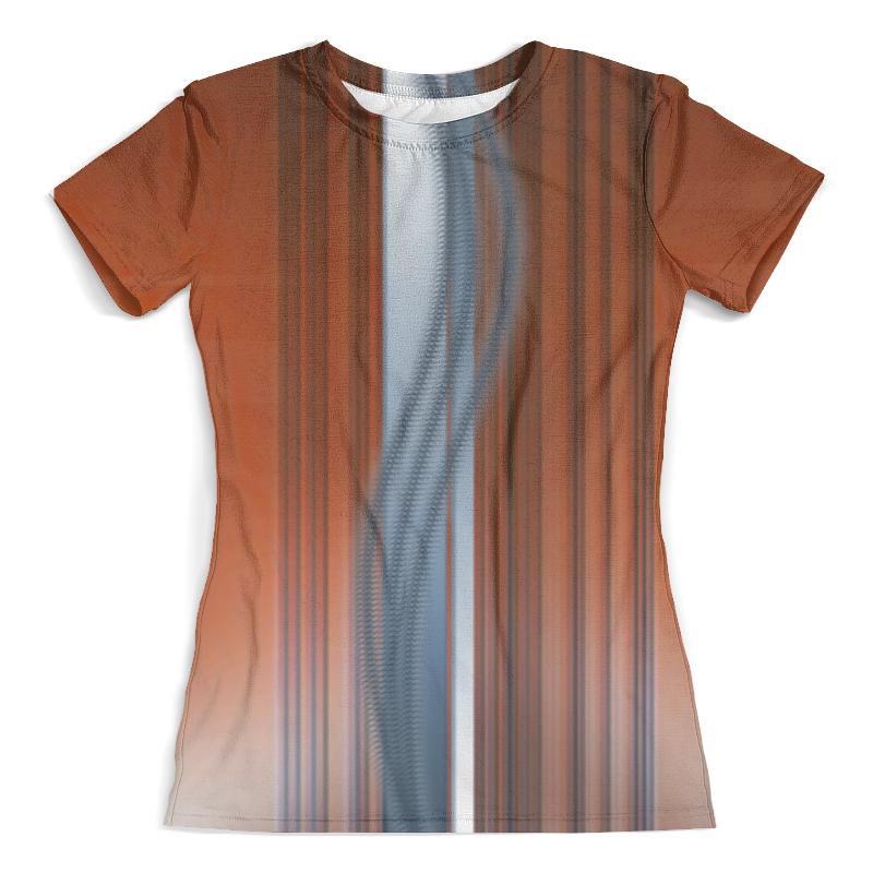 Футболка с полной запечаткой (женская) Printio Абстрактные линии футболка с полной запечаткой женская printio линии