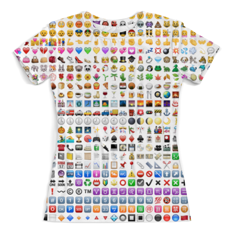 Фото - Футболка с полной запечаткой (женская) Printio Emoji смайлики футболка с полной запечаткой женская printio смайлики