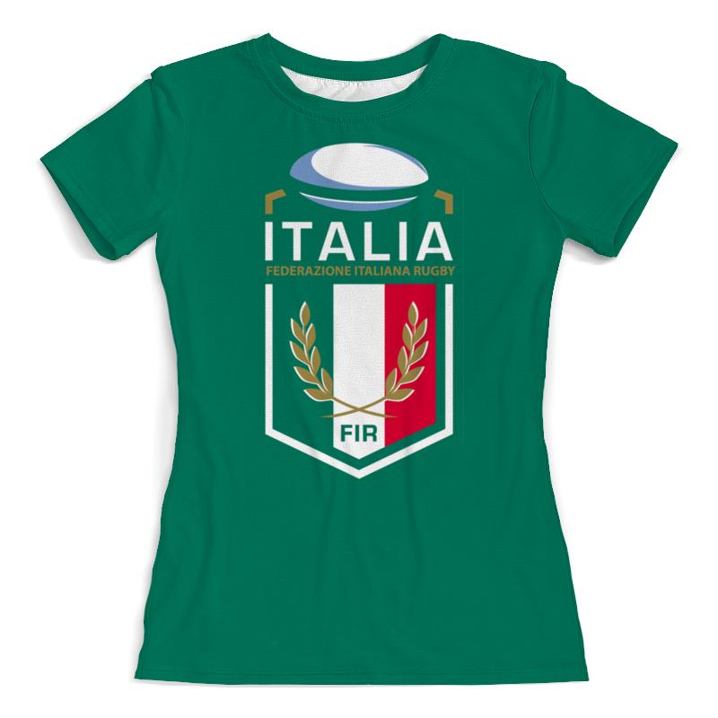 Футболка с полной запечаткой (женская) Printio Италия регби
