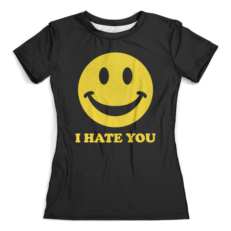 Футболка с полной запечаткой (женская) Printio I hate you футболка с полной запечаткой для девочек printio i hate school new