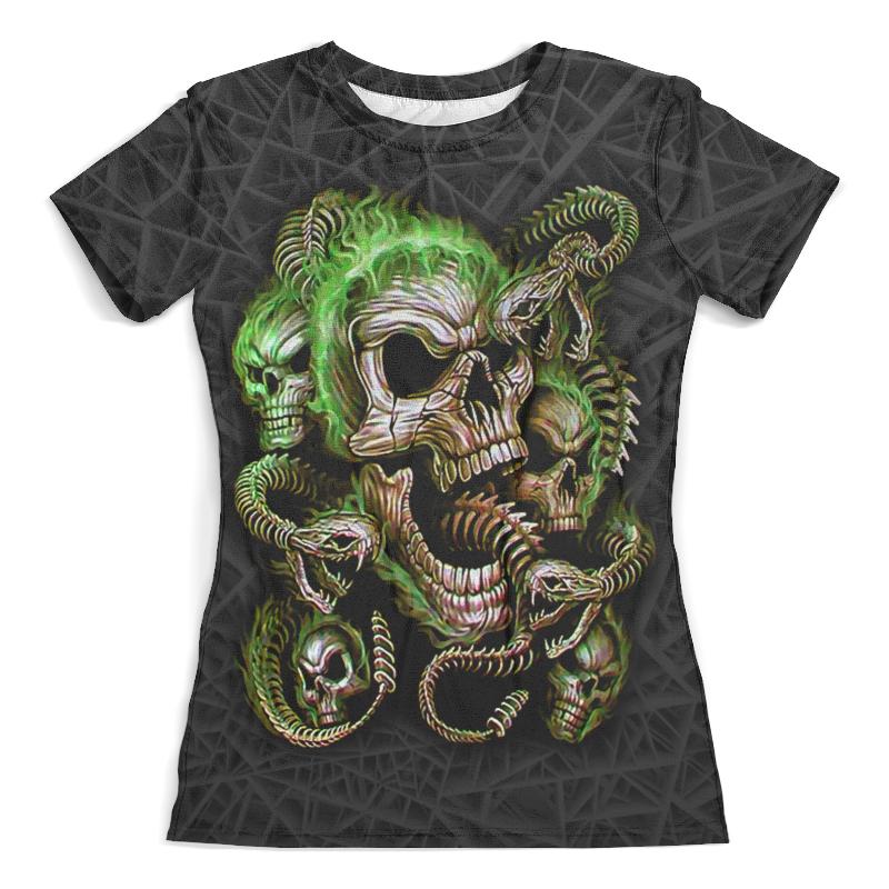Футболка с полной запечаткой (женская) Printio Skulls and snakes (halloween) футболка с полной запечаткой женская printio halloween thriller