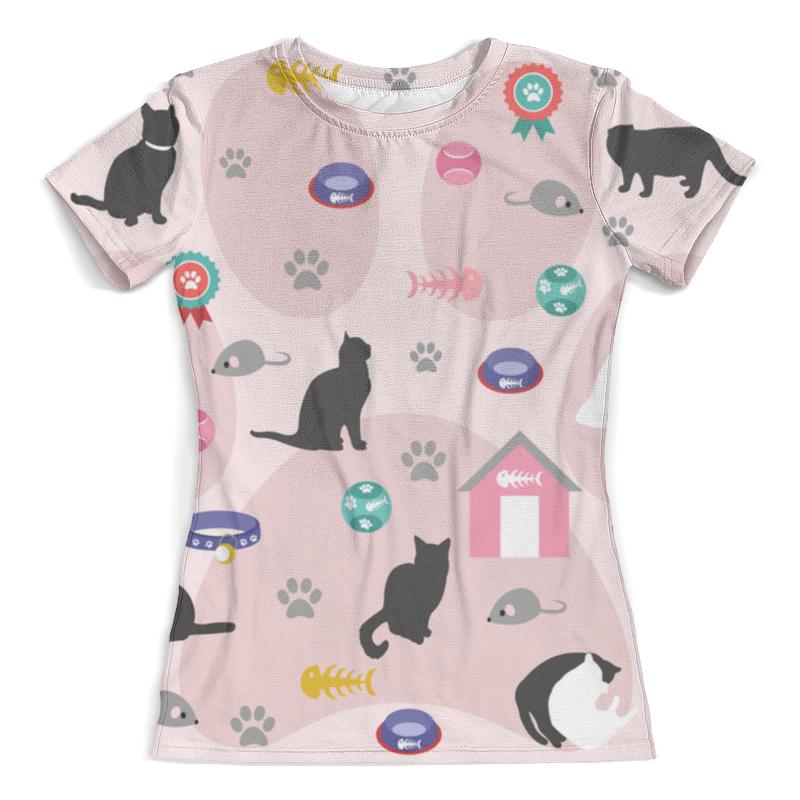 Футболка с полной запечаткой (женская) Printio Кошки мышки (1) кошки мышки стихи