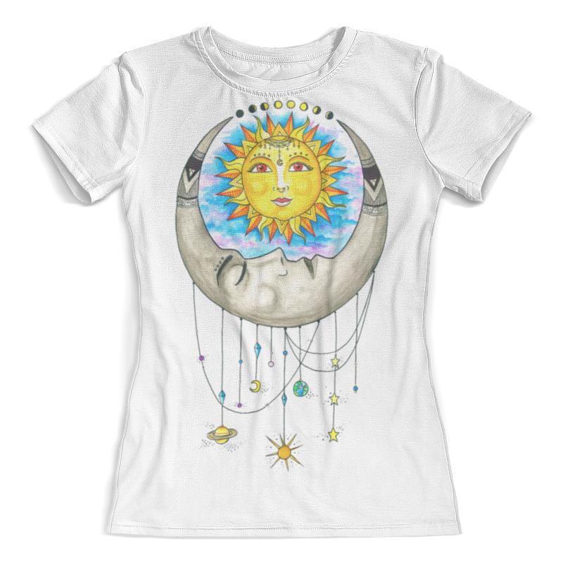 Футболка с полной запечаткой (женская) Printio Луна и солнце солнце луна марс прокопенко и с