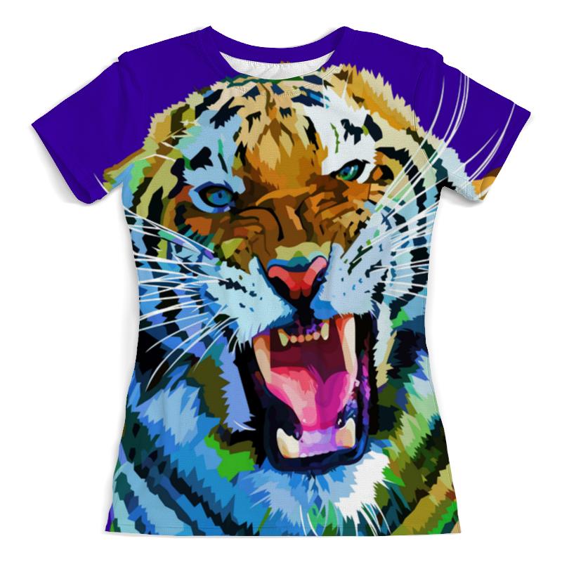 Футболка с полной запечаткой (женская) Printio Амурский тигр футболка с полной запечаткой мужская printio амурский тигр