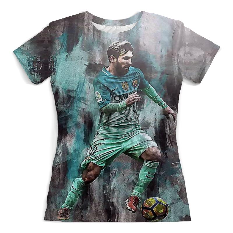 Футболка с полной запечаткой (женская) Printio Lionel messi (1) цена и фото