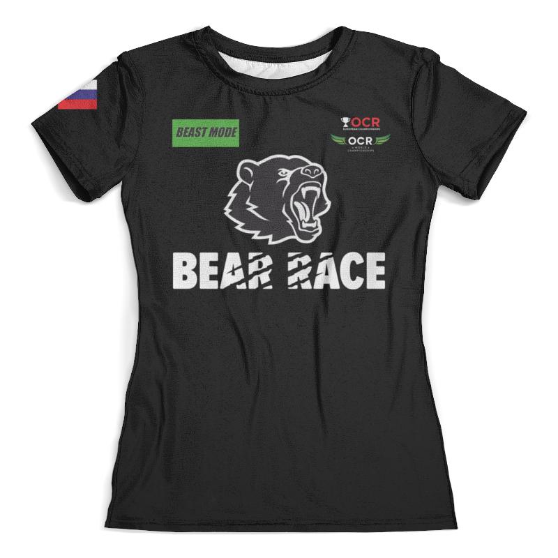 Футболка с полной запечаткой (женская) Printio Bear race beast mode russia футболка женская nor cal black bear v neck purple rush