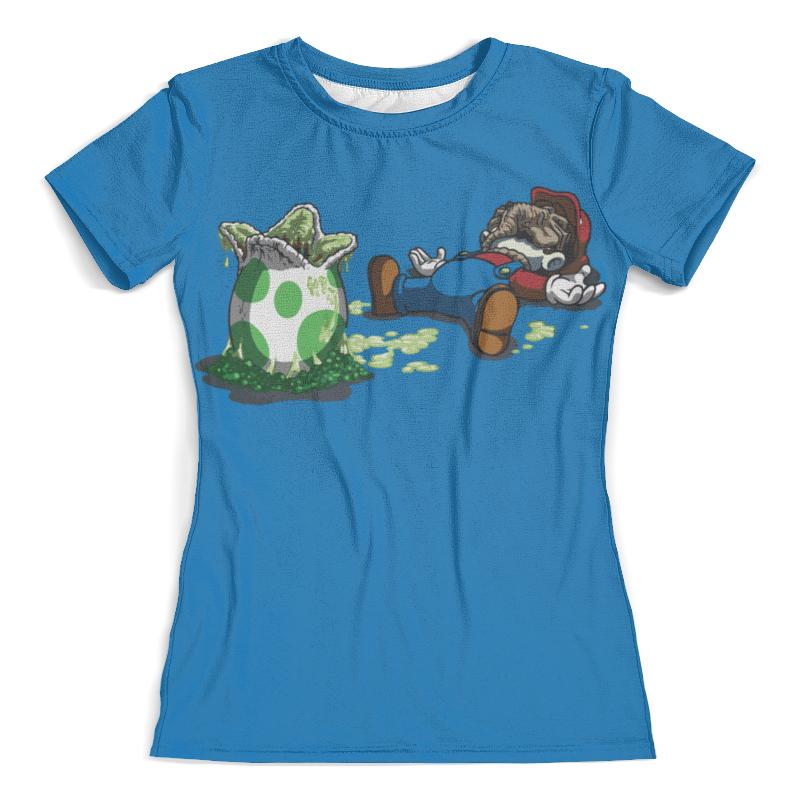 Футболка с полной запечаткой (женская) Printio Mario and alien / марио и чужой футболка с полной запечаткой женская printio alien чужой женская