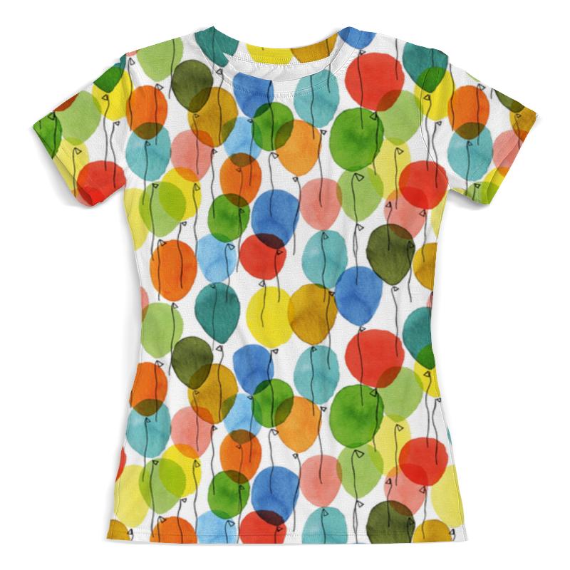 Футболка с полной запечаткой (женская) Printio Шарики футболка с полной запечаткой женская printio воздушные шарики