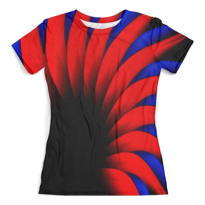 Футболка с полной запечаткой (женская) Printio Сине-красный футболка с полной запечаткой женская printio сине голубые линии