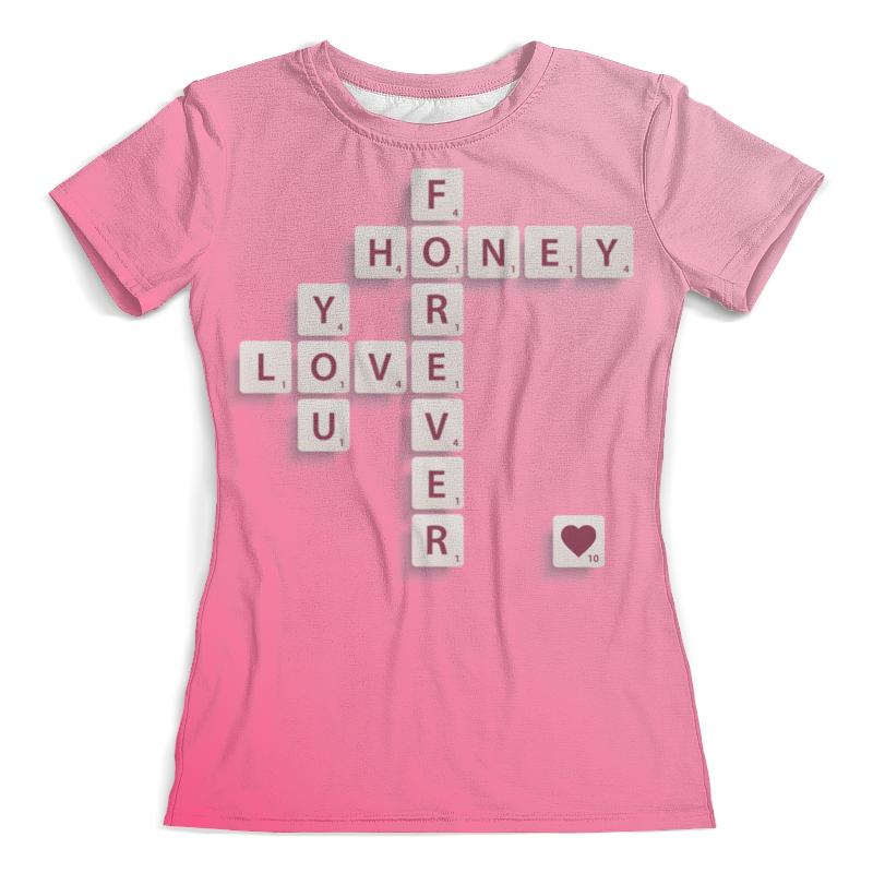 Футболка с полной запечаткой (женская) Printio Love forever love you forever